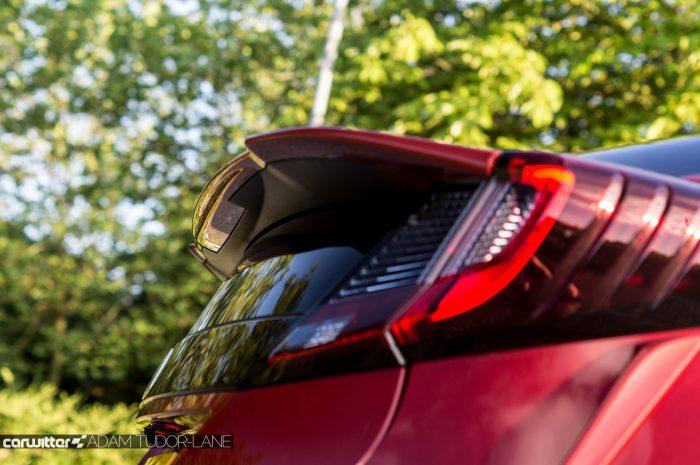 2016 Honda Civic Sport Review 1.6 iDTEC - Rear Spoiler - carwitter