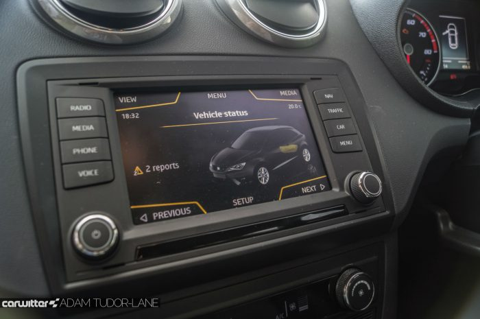 2016 SEAT Ibiza FR Review - Infotainment Touch Screen - carwitter