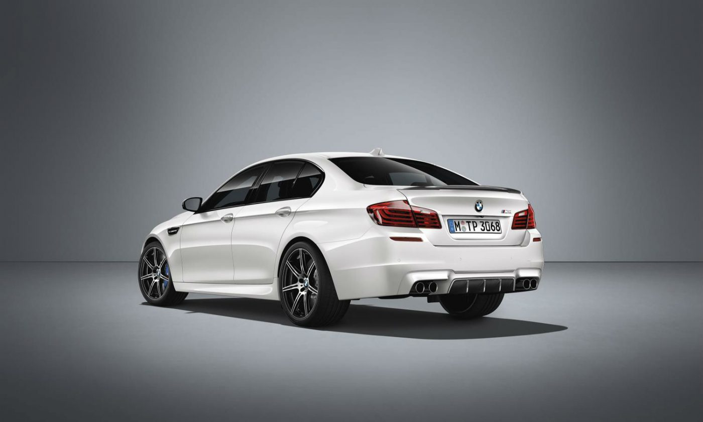 2016 BMW M5 Competition Edition White Rear Angle carwitter 1400x840 - BMW unleashes M5 Competition Edition - BMW unleashes M5 Competition Edition