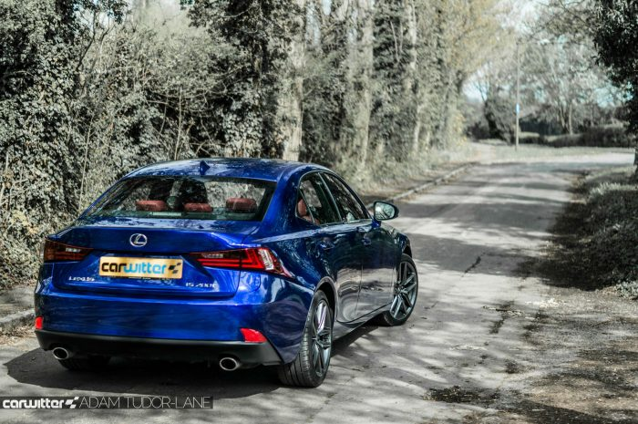 2016 Lexus is200t Review - Rear Angle Road - carwitter