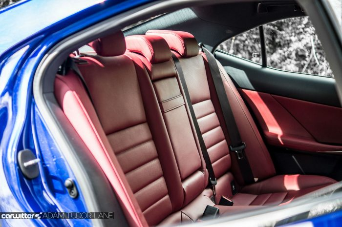 2016 Lexus is200t Review - Rear Red Leather Seats - carwitter