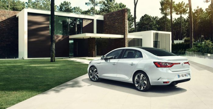 2016 Renault Megane Grand Coupe - Rear Angle - carwitter