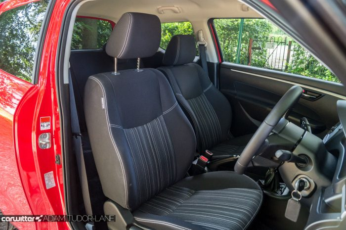 2016 Suzuki Swift SZ L Review Interior Seats Carwitter 700x465 - 2016 Suzuki Swift SZL Review - 2016 Suzuki Swift SZL Review