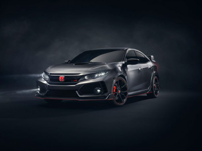 2017 Honda Civic Type R Front Angle carwitter 700x525 - 2017 Honda Civic Type R Breaks Cover - 2017 Honda Civic Type R Breaks Cover