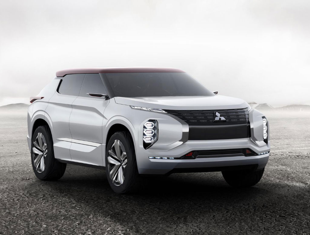 Mitsubishi GT PHEV Front - Mitsubishi GT-PHEV Concept Revealed Ahead of Paris Debut - Mitsubishi GT-PHEV Concept Revealed Ahead of Paris Debut