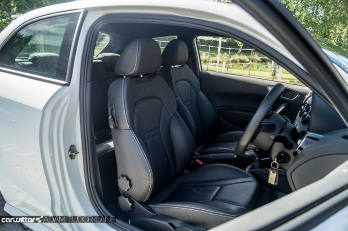 2016 Audi S1 Review Front Seats Carwitter 700x465 - Audi S1 Review - Audi S1 Review