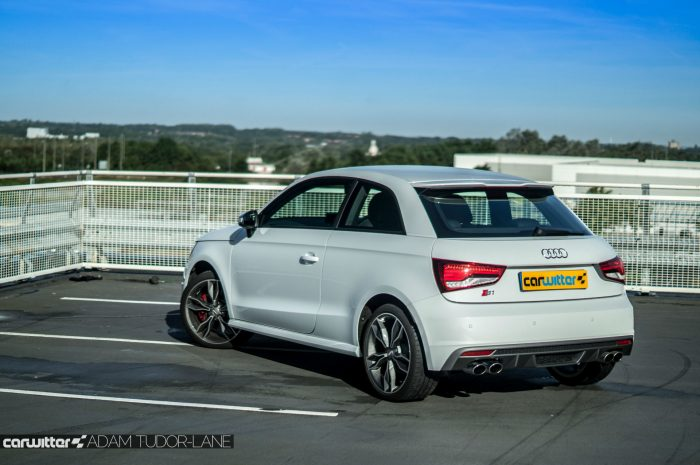 2016 Audi S1 Review Rear Angle Carwitter 700x465 - Audi S1 Review - Audi S1 Review