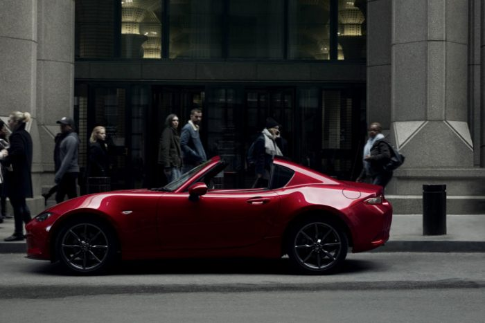 Mazda MX 5 RF Side 700x467 - Pricing and spec announced for the all-new Mazda MX-5 RF - Pricing and spec announced for the all-new Mazda MX-5 RF