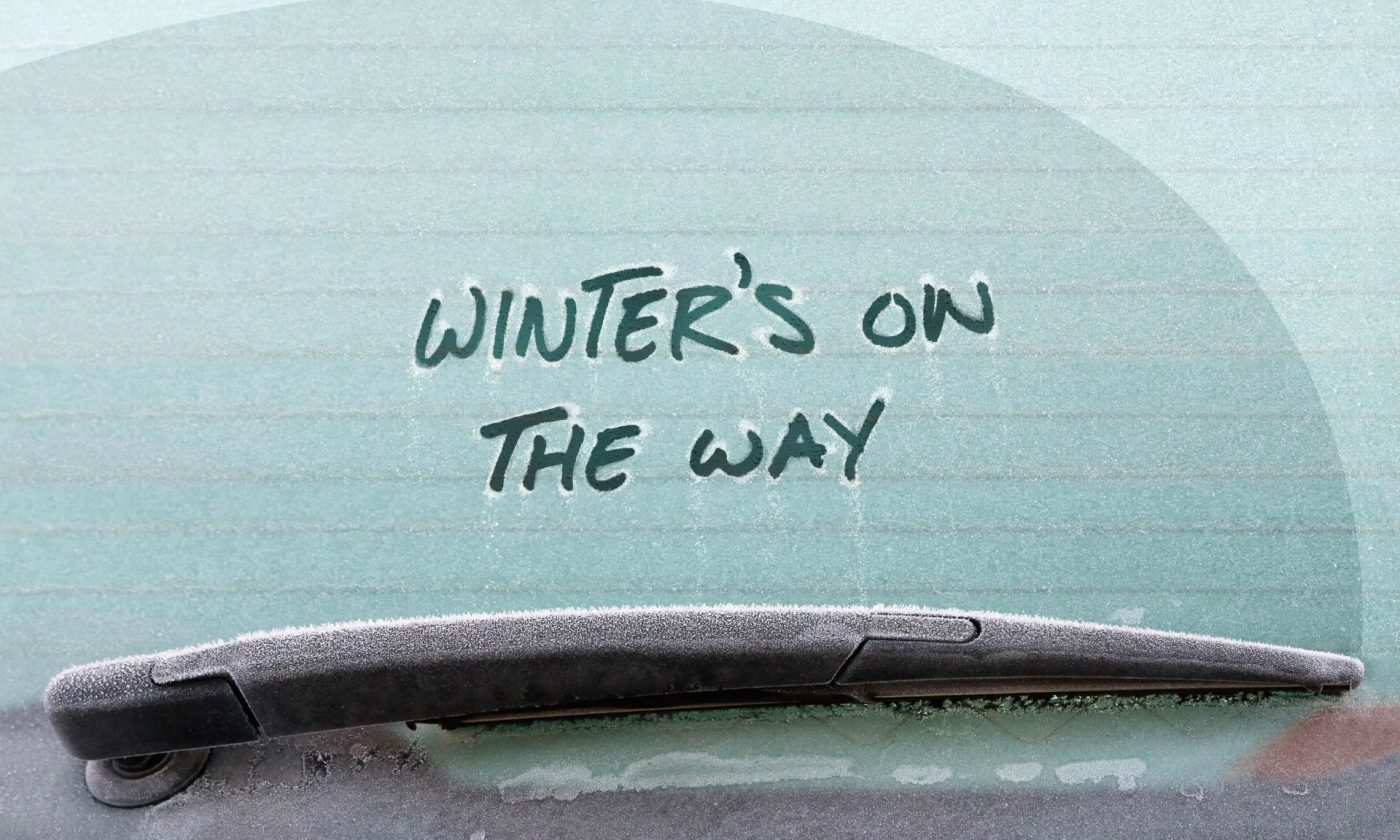 Winter On The Way Frozen carwitter 1400x840 - Top tips for safe winter motoring - Top tips for safe winter motoring