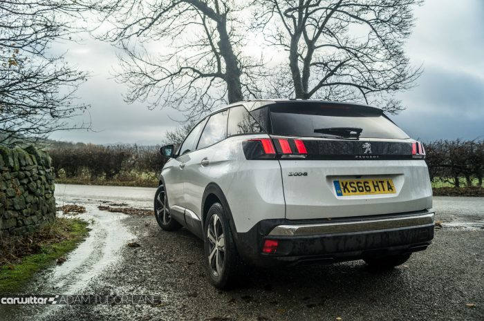 2016-peugeot-3008-suv-review-rear-angle-low-carwitter