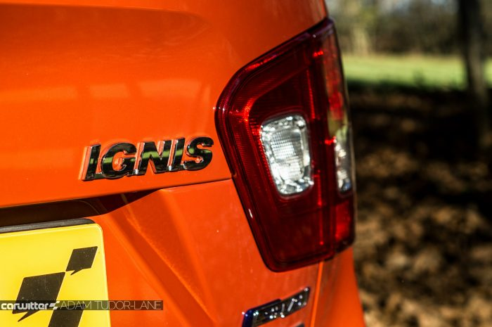 2016 Suzuki IGNIS Review Rear Badge carwitter 700x465 - 2016 Suzuki IGNIS Review - 2016 Suzuki IGNIS Review