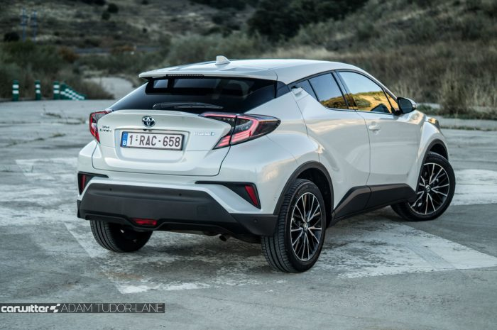 Toyota C HR Review Rear Angle Close carwitter 700x465 - Toyota C-HR Review - Toyota C-HR Review