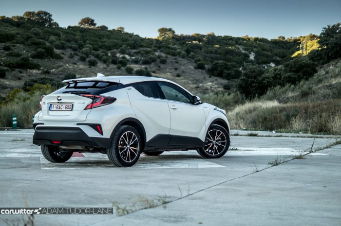 Toyota C HR Review Rear Angle carwitter 700x465 - Toyota C-HR Review - Toyota C-HR Review