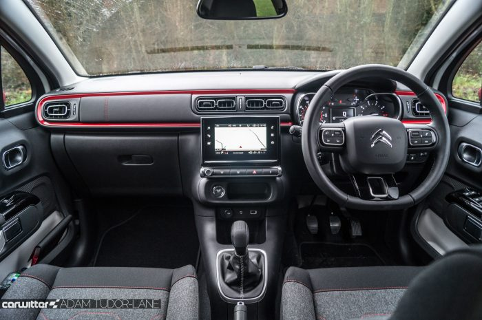 2016 Citroen C3 Ripcurl Review Dashboard carwitter 700x465 - New Citroen C3 Review - New Citroen C3 Review