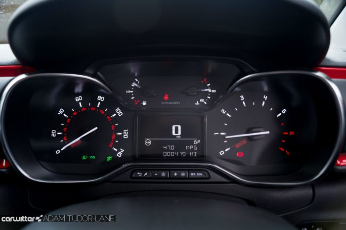 2016 Citroen C3 Ripcurl Review Dials carwitter 700x465 - New Citroen C3 Review - New Citroen C3 Review