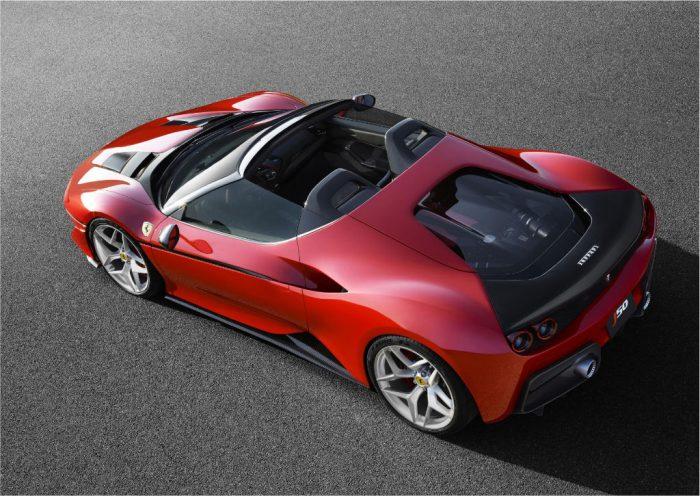 Ferrari J50 Above 700x496 - Limited Edition Ferrari J50 Revealed - Limited Edition Ferrari J50 Revealed