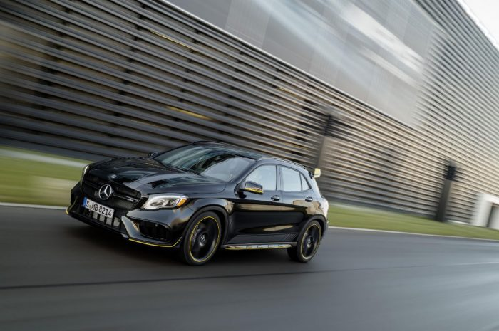 2017 Mercedes AMG GLA Yellow Night Edition Front 700x465 - Pricing and Spec for 2017 Mercedes GLA Announced - Pricing and Spec for 2017 Mercedes GLA Announced