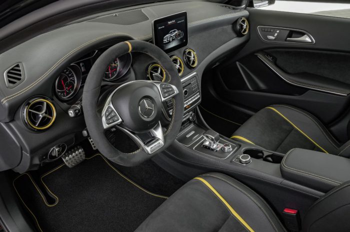 2017 Mercedes AMG GLA Yellow Night Edition Interior 700x465 - Pricing and Spec for 2017 Mercedes GLA Announced - Pricing and Spec for 2017 Mercedes GLA Announced