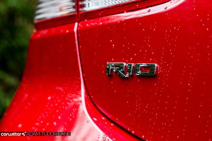 2017 Kia Rio Review Rio Rear Badge carwitter 700x465 - 2017 Kia Rio Review - 2017 Kia Rio Review