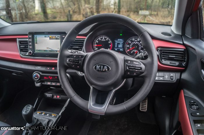 2017 Kia Rio Review Steering Wheel Dash carwitter 700x465 - 2017 Kia Rio Review - 2017 Kia Rio Review