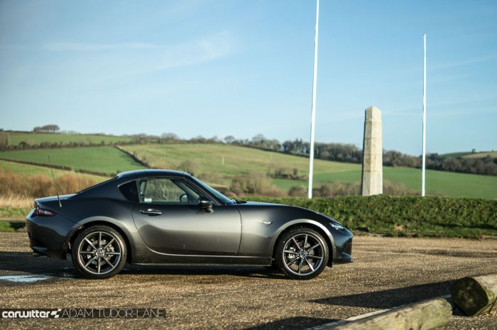 2017 Mazda MX 5 RF Review Side Roof Up carwitter 700x465 - Mazda MX-5 RF Sport Nav Review - Mazda MX-5 RF Sport Nav Review