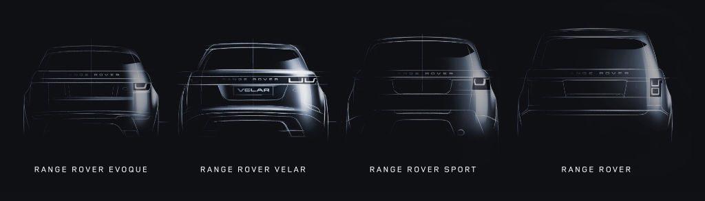 Land Rover Range Rover Sketch Line Up 1024x293 - Land Rover Introduce Range Rover Velar - Land Rover Introduce Range Rover Velar