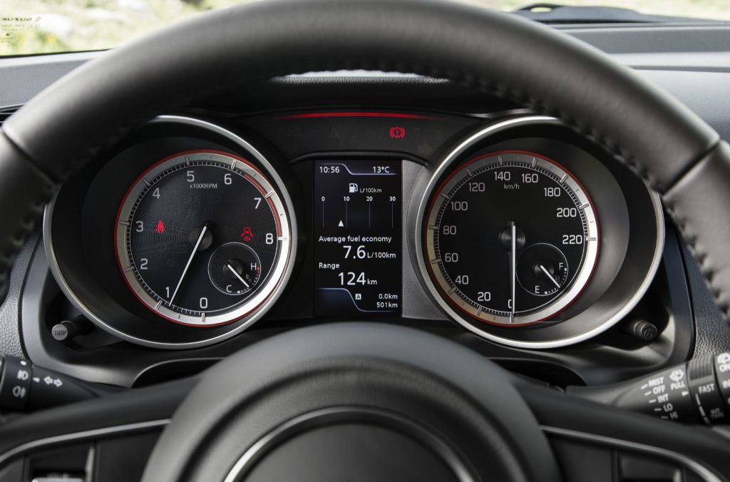2017 Suzuki Swift Review Dials carwitter 1024x676 - New 2017 Suzuki Swift Review - New 2017 Suzuki Swift Review