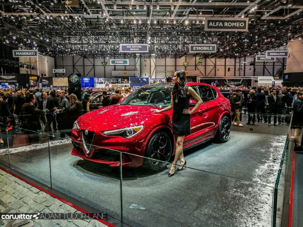 Geneva Motor Show 2017 Alfa Romeo Stelvio QV carwitter 1024x768 - A satirical wander around the 2017 Geneva Motor Show - A satirical wander around the 2017 Geneva Motor Show