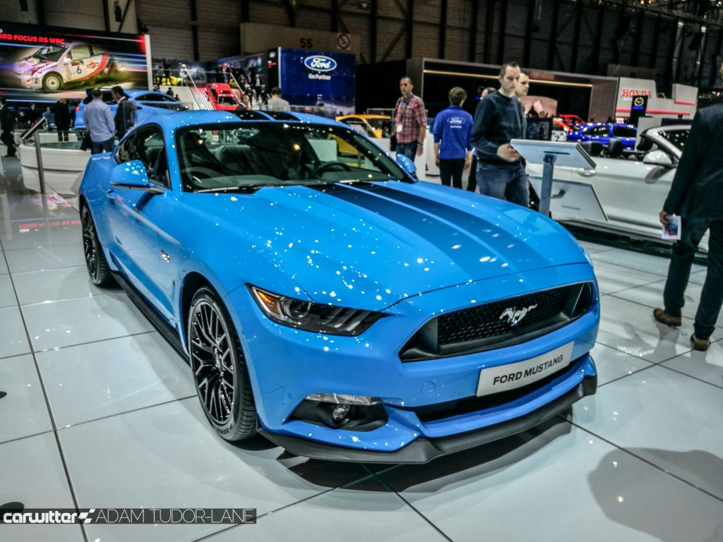 Geneva Motor Show 2017 Ford Mustang Nitrous Blue carwitter 1024x768 - Self-Driving Cars and Hybrid Vans: What's Ford's Future? - Self-Driving Cars and Hybrid Vans: What's Ford's Future?