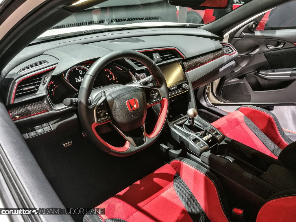 Geneva Motor Show 2017 Honda Civic TypeR Interior Dashboard carwitter 1024x768 - A satirical wander around the 2017 Geneva Motor Show - A satirical wander around the 2017 Geneva Motor Show