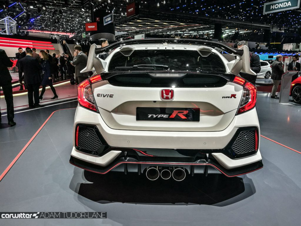 Geneva Motor Show 2017 Honda Civic TypeR Rear carwitter 1024x768 - A satirical wander around the 2017 Geneva Motor Show - A satirical wander around the 2017 Geneva Motor Show