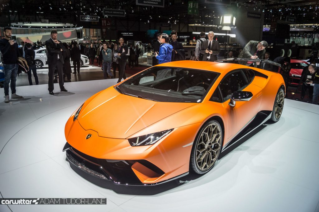 Geneva Motor Show 2017 Lamborghini Huracan Performante Front carwitter 1024x681 - A satirical wander around the 2017 Geneva Motor Show - A satirical wander around the 2017 Geneva Motor Show