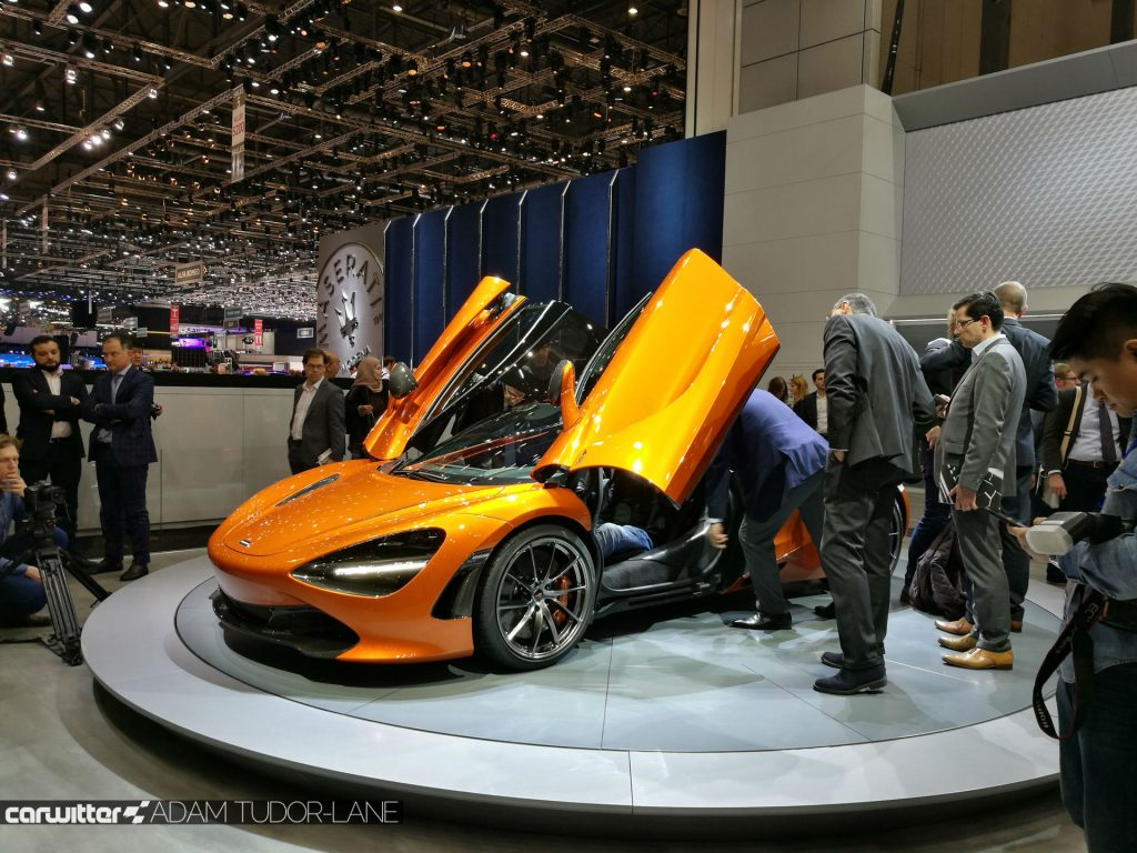 Geneva Motor Show 2017 McLaren 720s Side Doors Up carwitter 1024x768 - A satirical wander around the 2017 Geneva Motor Show - A satirical wander around the 2017 Geneva Motor Show
