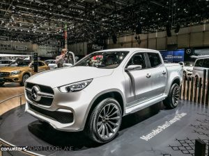 Geneva Motor Show 2017 Mercedes Benz X Class Concept Front carwitter 300x225 - A satirical wander around the 2017 Geneva Motor Show - A satirical wander around the 2017 Geneva Motor Show
