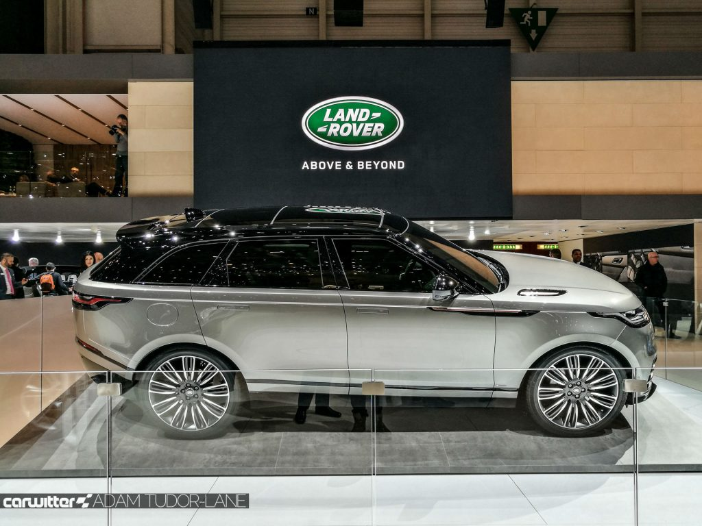 Geneva Motor Show 2017 Range Rover Velar Side carwitter 1024x768 - Cheapest top of the range cars to insure in 2020 - Cheapest top of the range cars to insure in 2020