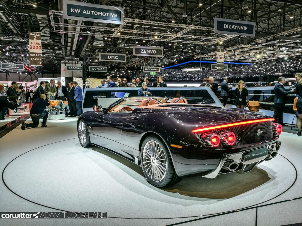 Geneva Motor Show 2017 Spyker C8 Preliator Rear carwitter 1024x768 - A satirical wander around the 2017 Geneva Motor Show - A satirical wander around the 2017 Geneva Motor Show