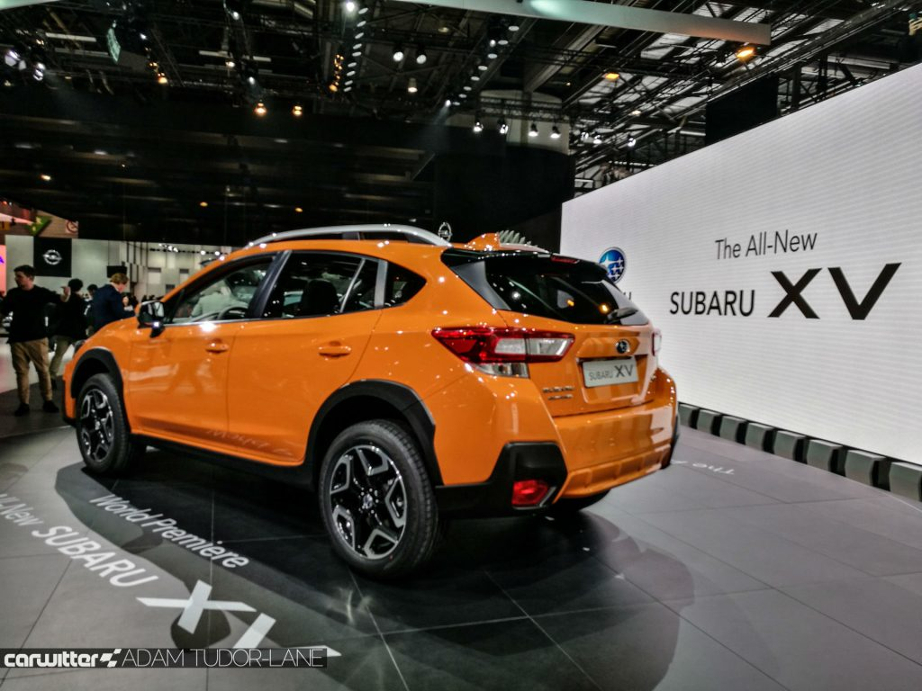 Geneva Motor Show 2017 Subaru XV Rear carwitter 1024x768 - A satirical wander around the 2017 Geneva Motor Show - A satirical wander around the 2017 Geneva Motor Show
