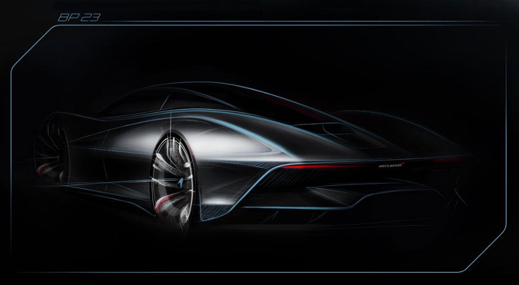 McLaren BP23 Sketch Tease - McLaren Release Teaser Sketch of F1 Successor - McLaren Release Teaser Sketch of F1 Successor