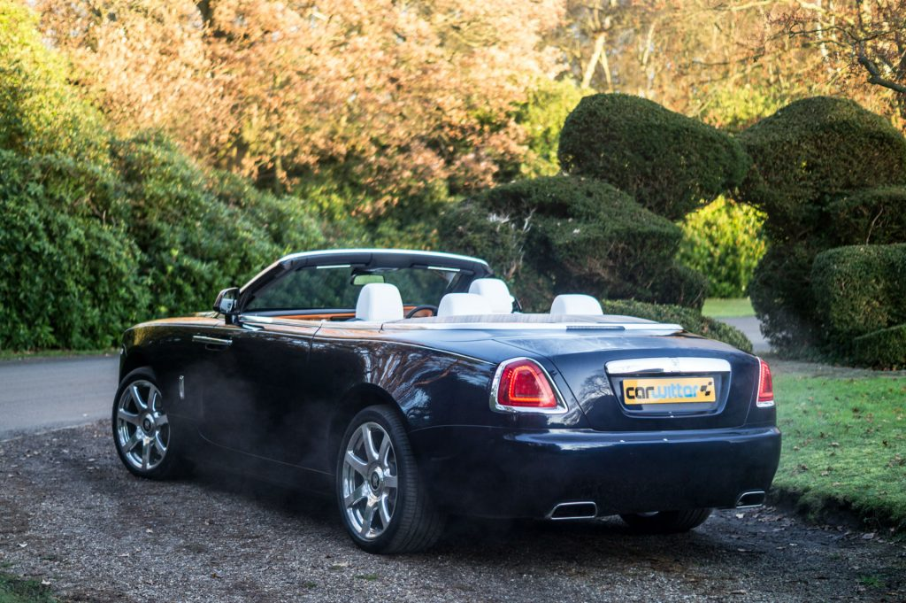 Rolls Royce Dawn Review 2017 Rear Angle Close carwitter 1024x681 - Rolls Royce Dawn 2017 Review - Rolls Royce Dawn 2017 Review
