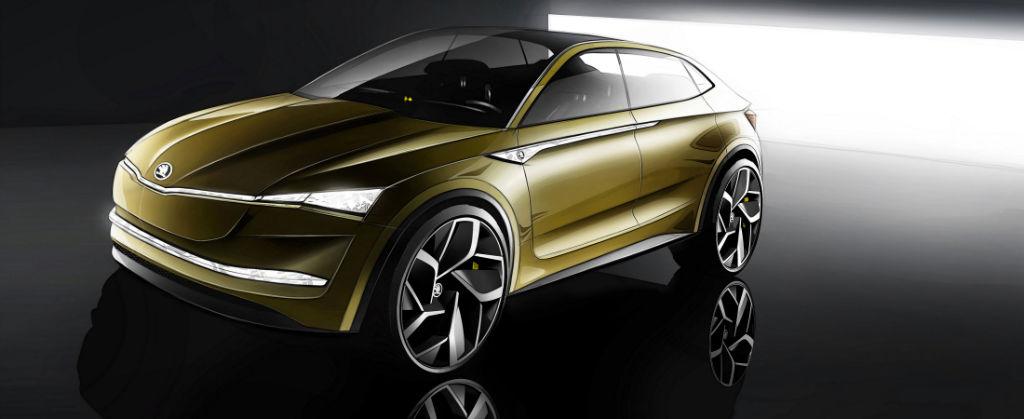 Skoda Vision E Front - Skoda Reveals Vision E Concept - Skoda Reveals Vision E Concept