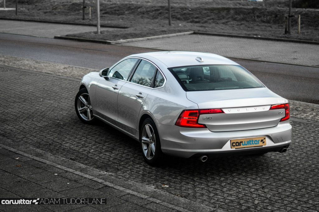 Volvo S90 UK Review Rear Angle High carwitter 1024x681 - Volvo S90 Review 2017 - Volvo S90 Review 2017