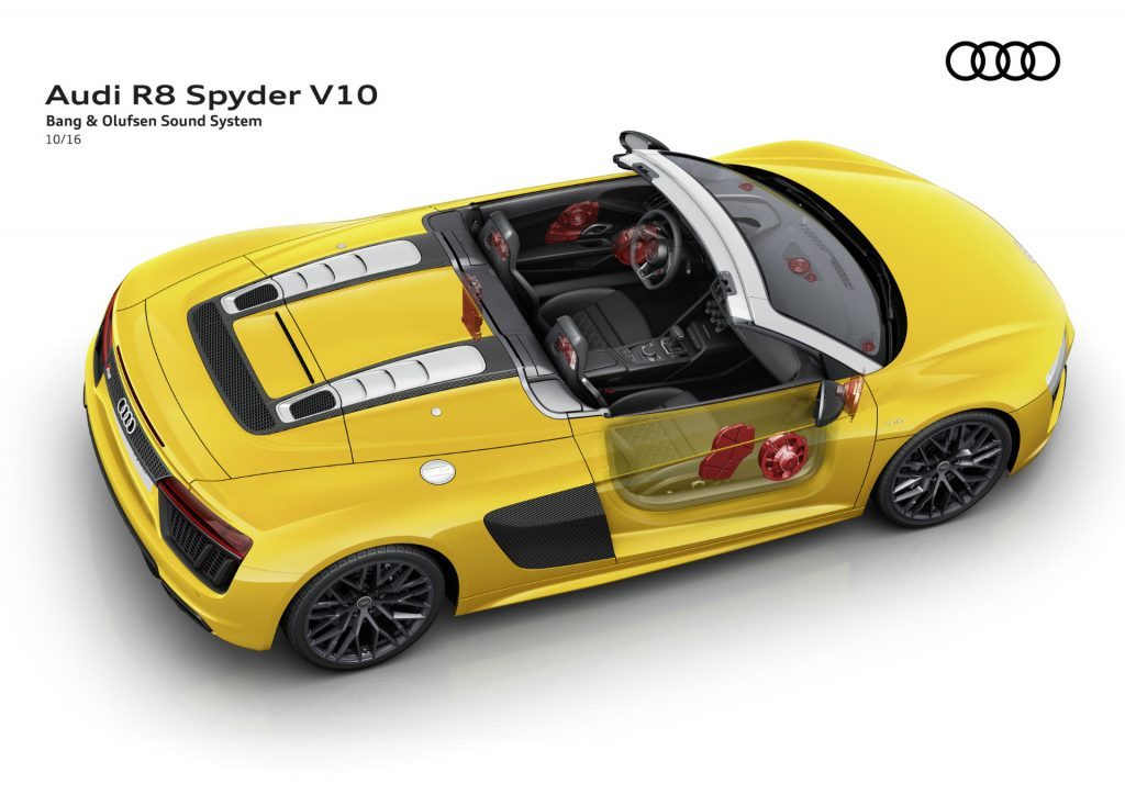 2017 Audi R8 Bang Olufsen Sound System carwitter 1024x724 - 2017 Audi R8 V10 Review - You don't need the Plus, here's why - 2017 Audi R8 V10 Review - You don't need the Plus, here's why
