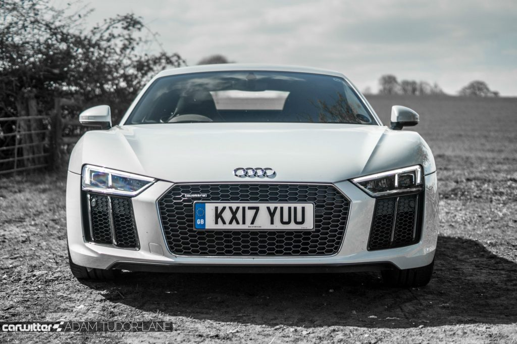 2017 Audi R8 Coupe Review Front carwitter 1024x681 - 2017 Audi R8 V10 Review - You don't need the Plus, here's why - 2017 Audi R8 V10 Review - You don't need the Plus, here's why