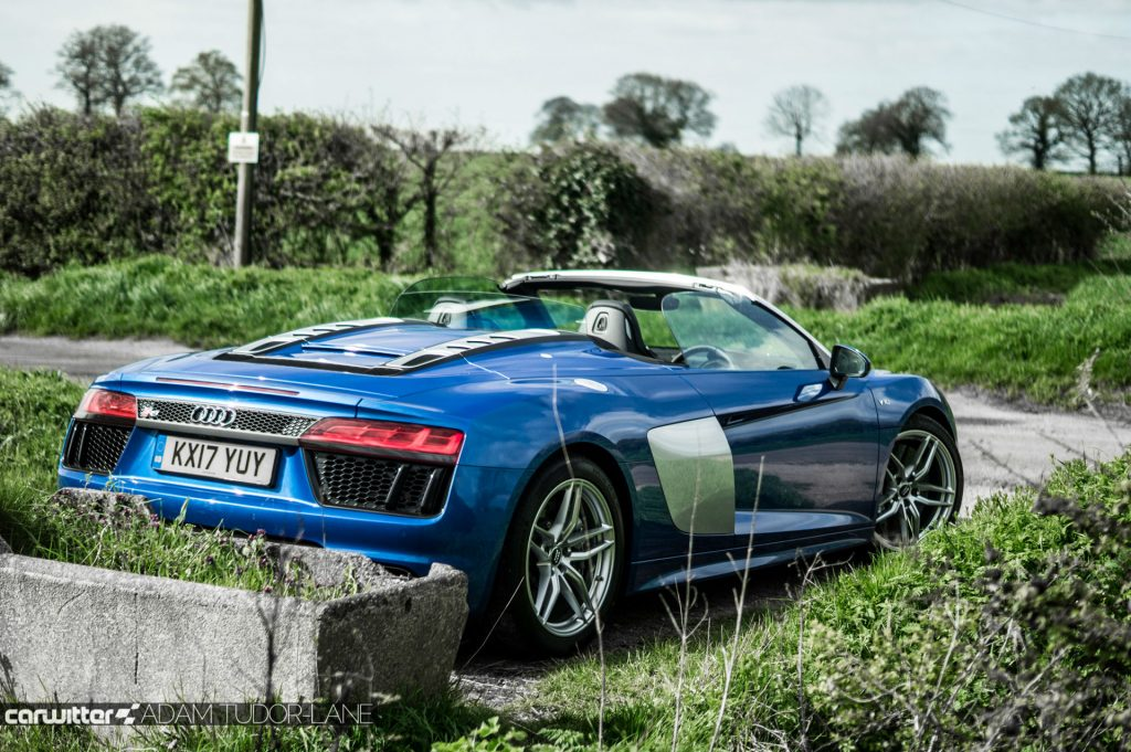 2017 Audi R8 Spyder Review Rear Angle carwitter 1024x681 - 2017 Audi R8 V10 Review - You don't need the Plus, here's why - 2017 Audi R8 V10 Review - You don't need the Plus, here's why