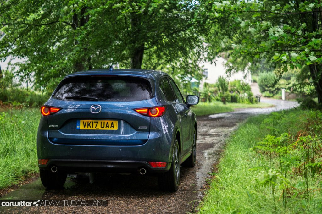 2017 Mazda CX 5 Review Rear Angle carwitter 1024x681 - 2017 Mazda CX-5 2.2 Diesel Sport Nav Review - 2017 Mazda CX-5 2.2 Diesel Sport Nav Review