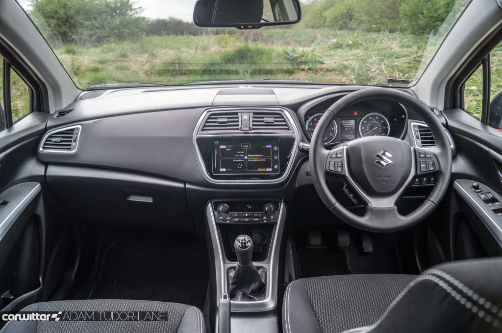 2017 Suzuki SX4 S Cross 1.0 Boosterjet Review Dashboard Interior carwitter 1024x681 - 2017 Suzuki SX4 S-Cross 1.0 litre Boosterjet review - 2017 Suzuki SX4 S-Cross 1.0 litre Boosterjet review