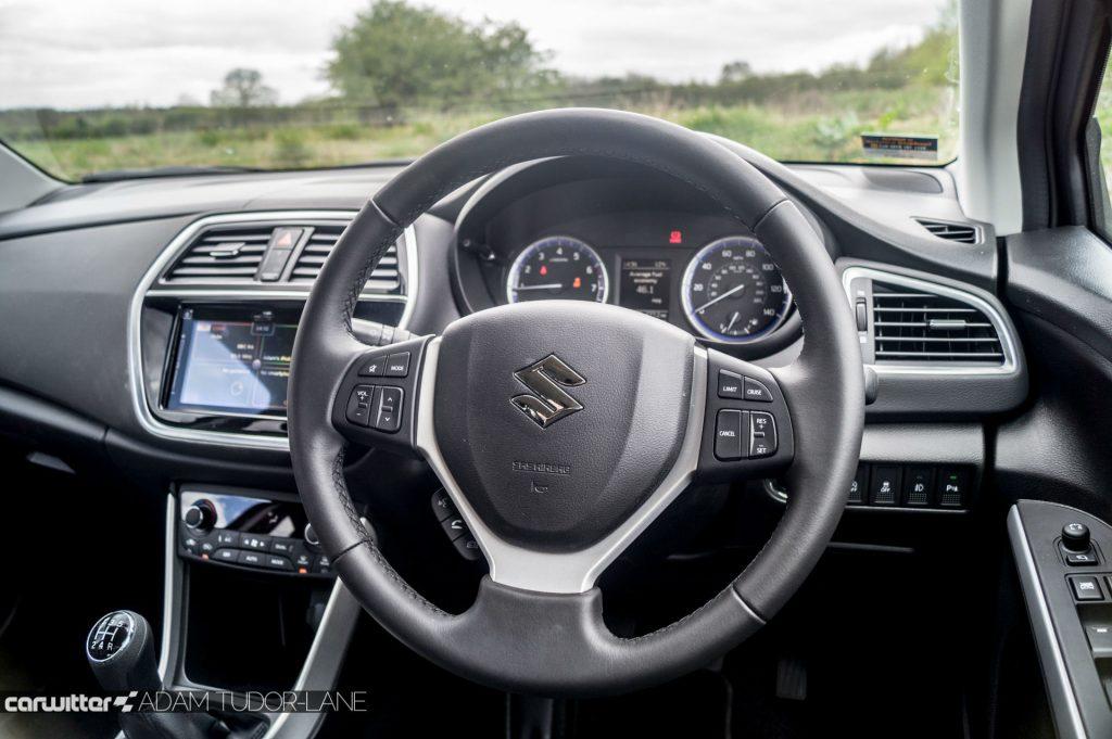 2017 Suzuki SX4 S Cross 1.0 Boosterjet Review Steering Wheel carwitter 1024x681 - 2017 Suzuki SX4 S-Cross 1.0 litre Boosterjet review - 2017 Suzuki SX4 S-Cross 1.0 litre Boosterjet review
