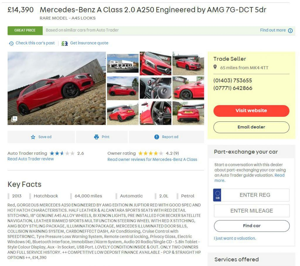 Mercedes Benz A250 Sport Engineered By Amg 2013 carwitter 1024x909 - The best used Mercs to buy 2017 - The best used Mercs to buy 2017