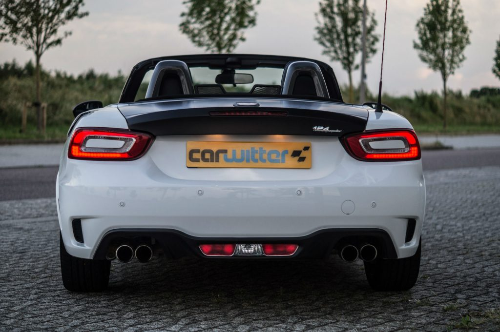 2017 Abarth 124 Spider Review Rear carwitter 1024x681 - 2017 Abarth 124 Spider Auto Review - 2017 Abarth 124 Spider Auto Review