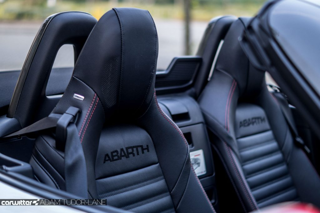2017 Abarth 124 Spider Review Seat Detail carwitter 1024x681 - 2017 Abarth 124 Spider Auto Review - 2017 Abarth 124 Spider Auto Review